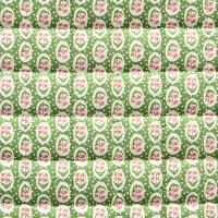 VEVENE'S Feedsack Flower Linen Quilting - #2 Apple Green