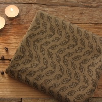 Coffee Leaf Stamp Pattern Cotton