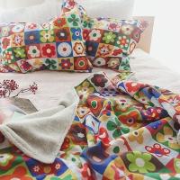 Nordic Vivid Flower 34 Blanket Patcth Linen