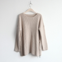 zip patch soft sweater