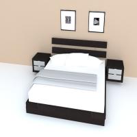 HOPEN Bed frame Queen 201.295.87 침대세트