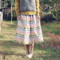 NS/ 1��/ 17����] vintage flower garden Line Patch Linen