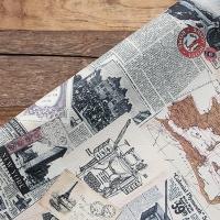 Vintage Paper Collage Leather 06 - KEEPING HIDDEN MEMORIES