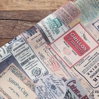 Vintage Paper Collage Leather 05 - VINTAGE TICKET COLLAGE