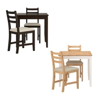 LERHAMN Table and 2 chairs 식탁세트