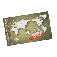 세계 지도 스티커 World Map Sticker