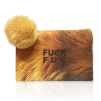 [스무치] Fuck Fur Mini Pouch - Brown