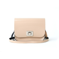 Patent Naked Taupe Small Pixie Bag