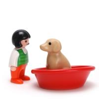 플레이모빌 1.2.3 소녀와 강아지(6796)