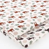 (2종) 시리즈124-코튼-북유럽꽃사슴