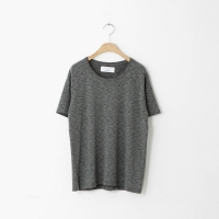 overlock round half T-shirt