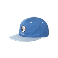 WHITE BLANK CIRCLE MICKEY SNAPBACK (BLUE)