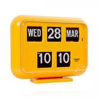 QD-35 TWEMCO Calendar Flip Wall Clock -Yellow