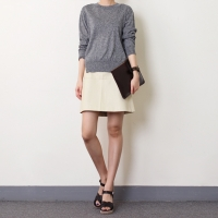 [never leather skirt]네버 레더 스커트