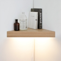 [바이빔][LED]코너 선반 벽조명-무늬목