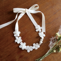 pure flower hairband & necklace