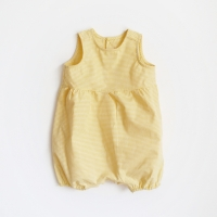 summer romper_yellow check