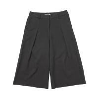 [DE WHITE] WIDE SLACKS PANTS (BLACK)