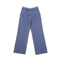[DE WHITE] WIDE DENIM PANTS(BLUE)