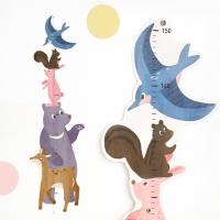 코니테일 키재기 포스터 - 동물친구들 (키재기자)