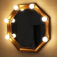 코메타골드 8각 조명거울