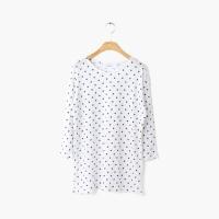 round neck dot T-shirt