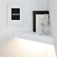 [바이빔][LED]코너 선반 벽조명-블랙or화이트