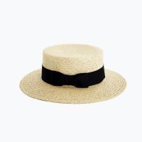flat brimmed straw hat