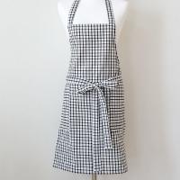 w블랙체크 apron