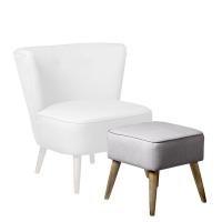 [BloomingVille] Pouf, grey upholstery 쿠션의자129002