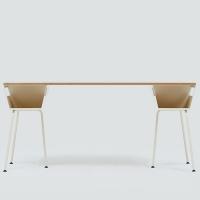 POLYGON WORK TABLE 1600 - ALMOND