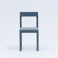 ROUND DINING CHAIR - GRAY