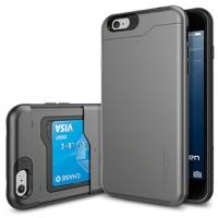 아이폰6 플러스 케이스 슬림아머 카드슬라이더 건메탈