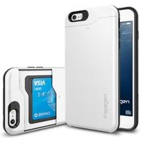 아이폰6 플러스 케이스 슬림아머 카드슬라이더 쉬머리화이트