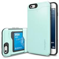 아이폰6 플러스 케이스 슬림아머 카드슬라이더 민트