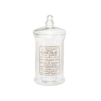 [Hubsch]Glass jar w/lid & text, large 278031 보관용기