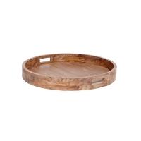 [Hubsch]Tray, round, wood 316014 원형트레이