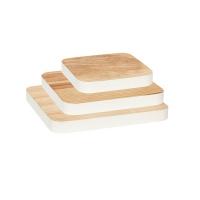 [Hubsch]Cutting board w/white edge,oak,set of 3 388020 도마세트