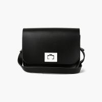Charcoal Black Small Pixie Bag
