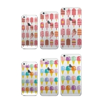 달라라삼 아이스크림패턴 투명케이스-아이폰5 5S 6 6+