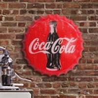 Cocacola 빈티지 보틀캡 틴사인보드
