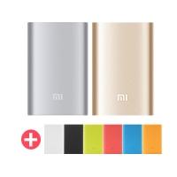 (Xiaomi)샤오미 보조배터리 10000mAh 실버/골드+케이스