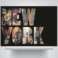 뉴욕, 심플 블랙 - 폼보드 감성사진 액자