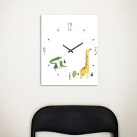 [Millim] Canvas clock - zoo (Giraffe)