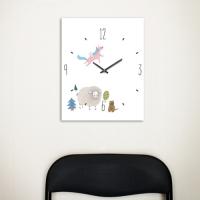[Millim] Canvas clock - zoo (Sheep)