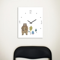 [Millim] Canvas clock - zoo (Bear)