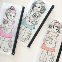 paper doll mate clear pouch.P