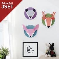 애니멀돌 3종세트(사슴,사막여우,팬더)