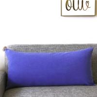 Blue Pompom Big Cushion