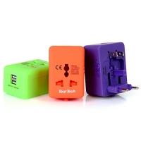 여행용 멀티 아답터(USB 2포트/파우치)_(901958653)